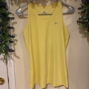 "Under Armour Yellow ""Heat Gear"" Tank S/M"